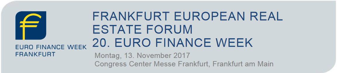 Konferenz Frankfurt European Real Estate Forum 2017