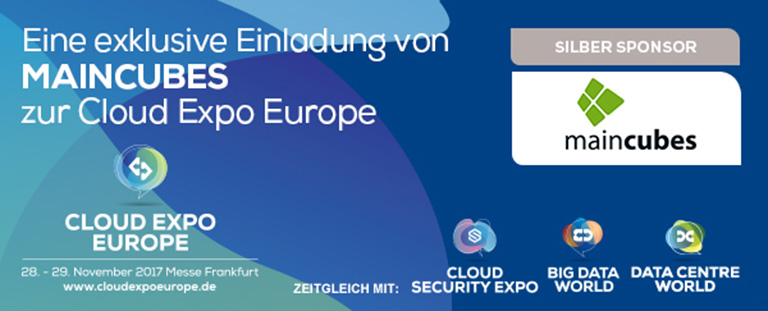 Maincubes Ist SILBER SPONSOR Der Cloud Expo Europe 2017